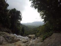 瀑布酸值苏梅岛,泰国 免版税库存照片