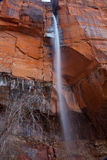瀑布锡安国家公园 库存图片