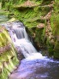 瀑布风景威斯康辛小山谷 库存照片