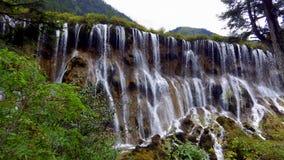 瀑布,九寨沟国家公园,中国 库存图片