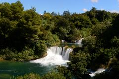 瀑布,克罗地亚 免版税图库摄影