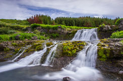 瀑布,冰岛 免版税库存图片