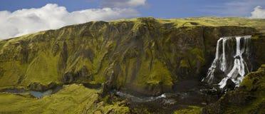 瀑布,冰岛 库存图片