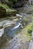瀑布,沃特金斯幽谷国家公园,纽约,不 库存图片