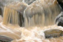 瀑布,泰国迷离背景  免版税图库摄影