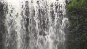 瀑布,澳大利亚,玄武岩岩层的 股票视频