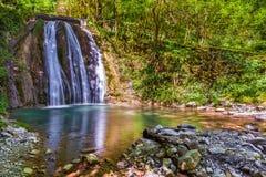 33瀑布,索契,俄罗斯 免版税库存图片