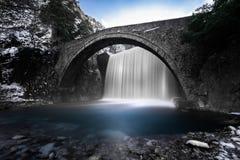 瀑布,色萨利,希腊 免版税图库摄影