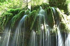 瀑布,金星,自然, cilento,意大利的头发 库存图片