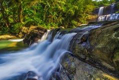 瀑布,风景,自然, clauds,天空,天空,日落,日出,湖, 库存图片