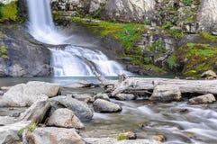 瀑布, El Chalten,阿根廷 免版税库存照片