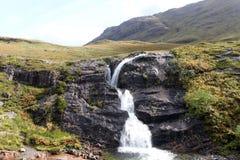 瀑布, Glencoe,苏格兰 库存图片