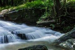 瀑布, Khum索马里兰瀑布, Muang区,左近Nakhon,泰国 免版税图库摄影