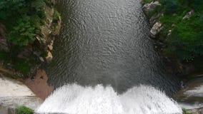 滔滔瀑布&浪花从水坝,山台山 股票录像