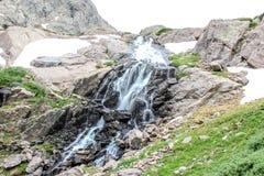 瀑布-落矶山脉风景在科罗拉多,美国 库存图片