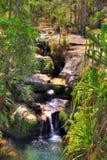 绿洲瀑布 库存图片