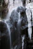 冻瀑布 库存照片