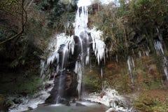 冻瀑布 图库摄影