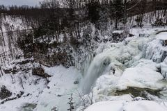 瀑布- Chittenango落国家公园- Cazenovia,纽约 免版税库存照片