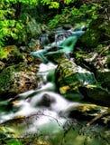 瀑布` s水的丝绸作用 免版税库存图片