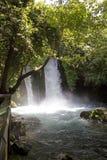 瀑布Banias在北以色列 免版税库存图片