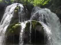 瀑布Bigar在罗马尼亚 免版税库存照片