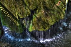 瀑布Bigar在罗马尼亚 库存图片