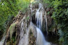 瀑布Clocota罗马尼亚 免版税库存照片