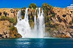 瀑布Duden在Antalya土耳其 免版税图库摄影