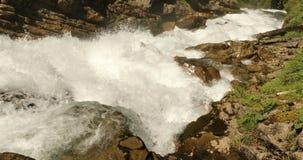 瀑布Giessbach, Bernese Oberland,瑞士 股票录像