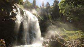 瀑布Giessbach, Bernese Oberland,瑞士 股票视频