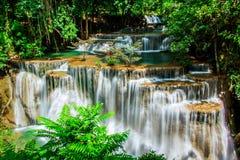 瀑布Huay Mae Kamin泰国 库存图片