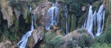 瀑布Kravica在克罗地亚 库存照片