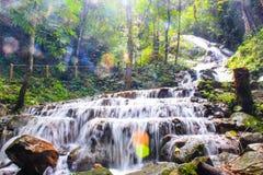 瀑布mae-kum-pong 图库摄影