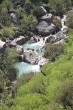 瀑布Neelawahn小河和水池 库存图片