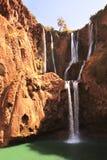 瀑布Ouzoud落下d ` Ouzoud,摩洛哥 免版税库存照片