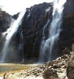 瀑布Pirenopolis -戈亚斯-巴西 免版税库存图片