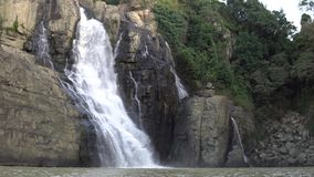 瀑布Pongour在大叻,越南 股票录像
