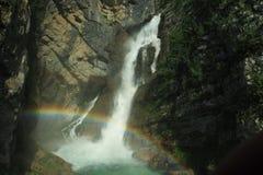 瀑布Savica 库存照片