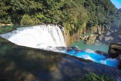 瀑布shifen台湾 库存照片