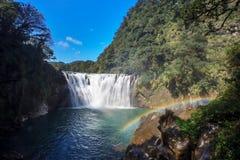 瀑布shifen台湾 免版税库存照片