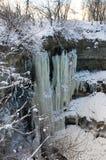 瀑布Valaste在爱沙尼亚 免版税库存照片
