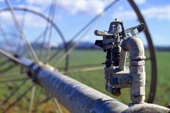 灌溉喷水隆头 库存图片