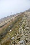 灌溉的干燥运河 免版税库存照片