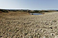 灌溉的池塘在意大利 免版税图库摄影
