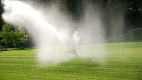 灌溉草坪 库存照片