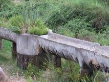 灌溉运河 图库摄影
