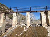 灌溉水坝 免版税库存图片