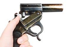 火光德国人枪 免版税库存图片