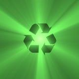 火光绿灯可再循环的符号 免版税库存照片
